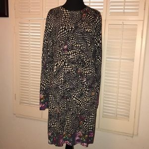 PAUL SMITH PRINT SWTR DRESS XL